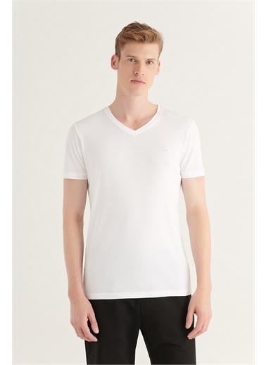 Avva Erkek  Ultrasoft Tişört A11B1173 Beyaz